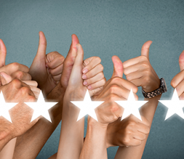 Thumbs up 5 star customer service