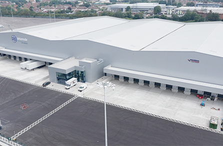 Aerial view of Regional Express warehouse